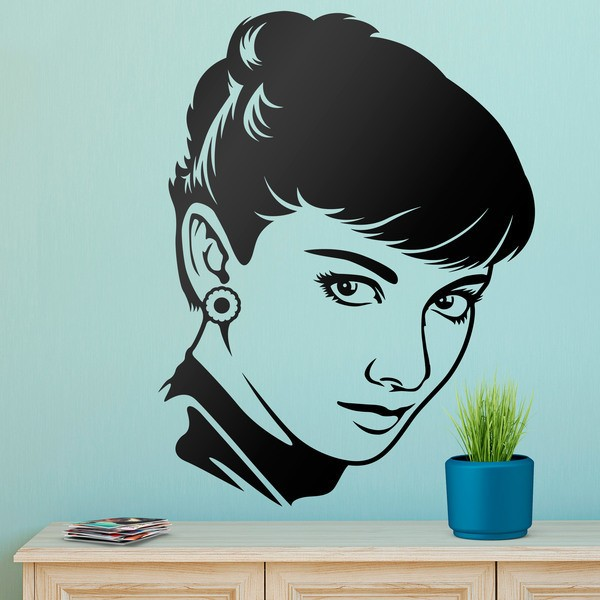 Wandtattoos: Der Look von Audrey Hepburn