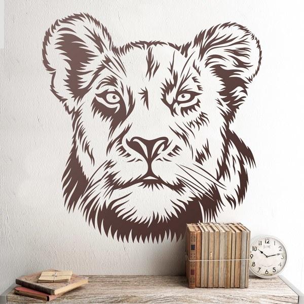 Wandtattoos: Löwin