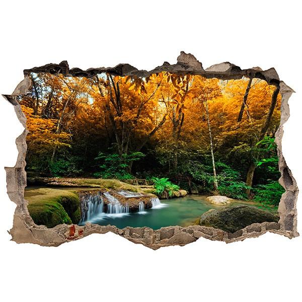 Wandtattoos: Loch Frühling im Wald