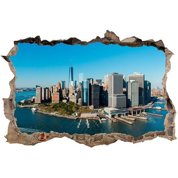 Wandtattoos: Loch Luftaufnahme von New York