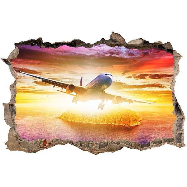 Wandtattoos: Loch Düsenflugzeug