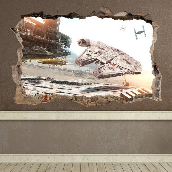 Wandtattoos: Loch Millennium Falcon Star Wars