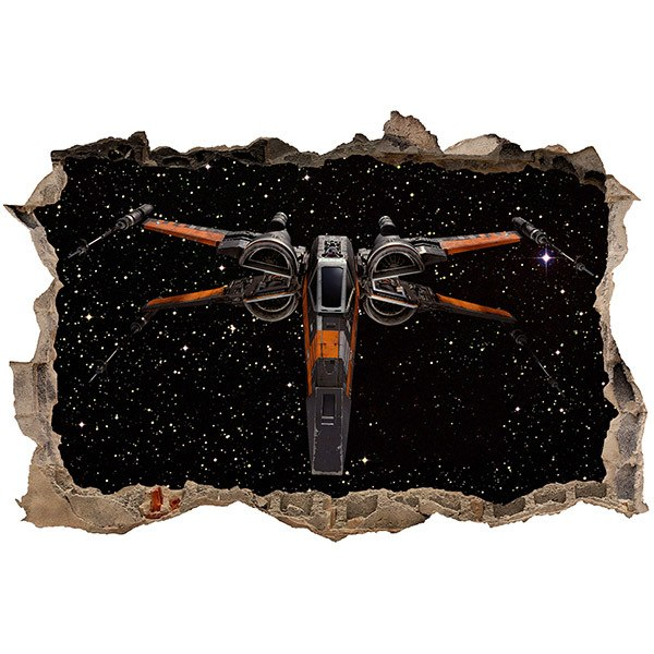 Wandtattoos: Loch X-wing Fighter