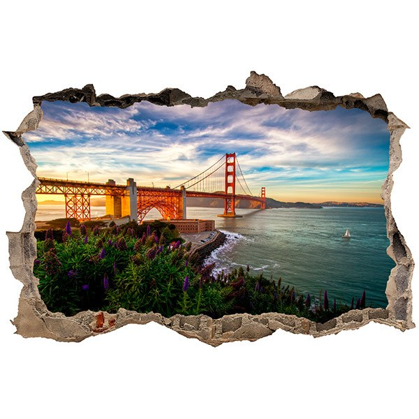 Wandtattoos: Loch Golden Gate San Francisco