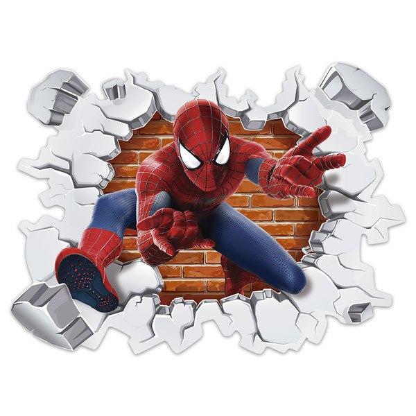 Kinderzimmer Wandtattoo: Loch in der Wand Spiderman