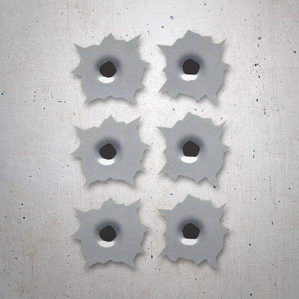 Aufkleber: 6 bullet holes kit