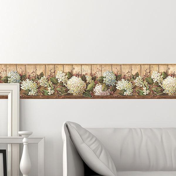 Wandtattoos: Bordüre Blumen