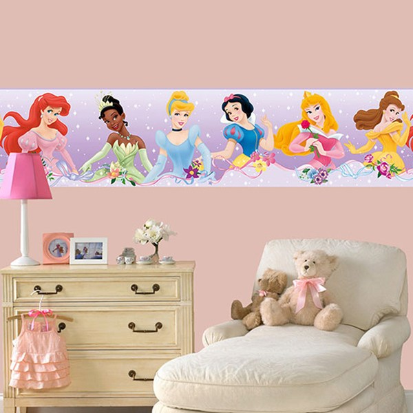 Kinderzimmer Wandtattoo: Bordüre Disney-Prinzessinnen