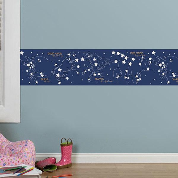 Wandtattoos: Bordüre Sterne