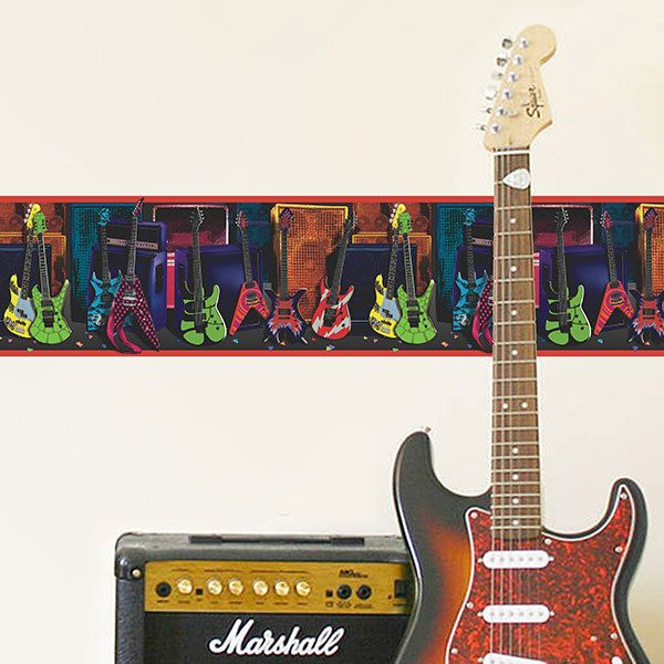 Wandtattoos: Bordüre Gitarren