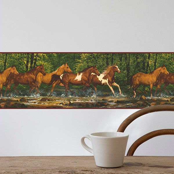 Wandtattoos: Bordüre Pferde