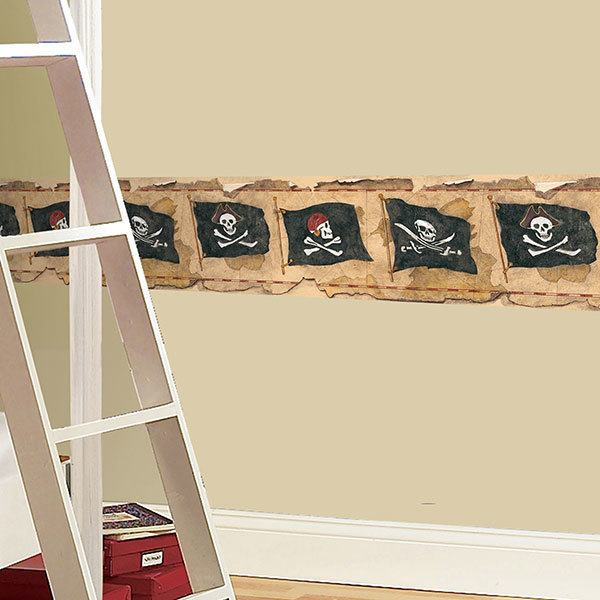 Kinderzimmer Wandtattoo: Bordüre Pirates