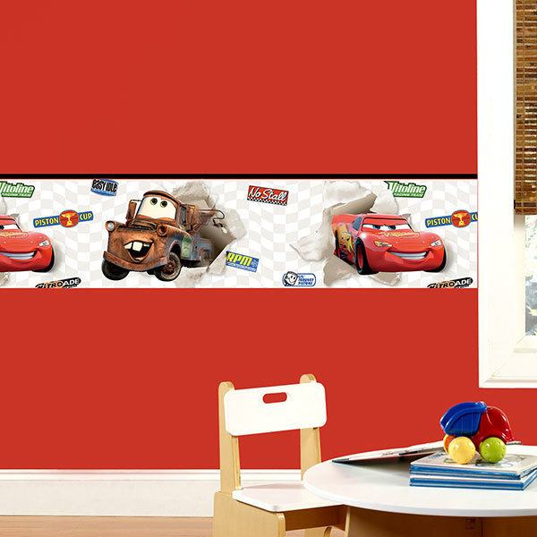 Kinderzimmer Wandtattoo: Bordüre Cars