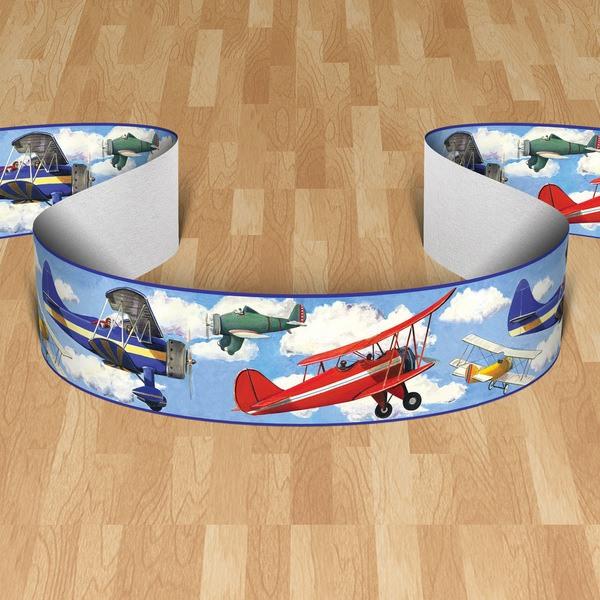 Kinderzimmer Wandtattoo: Bordüre Flugzeug