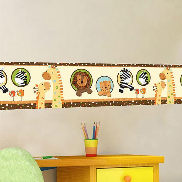 Kinderzimmer Wandtattoo: Bordüre Säugling Tiere