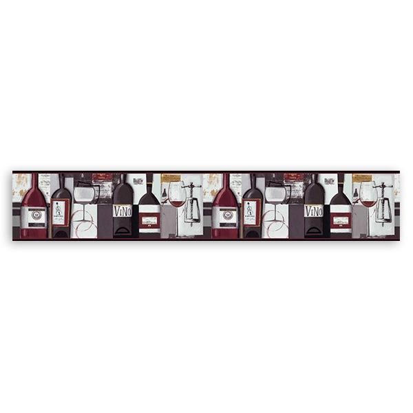 Wandtattoos: Bordüre Wein