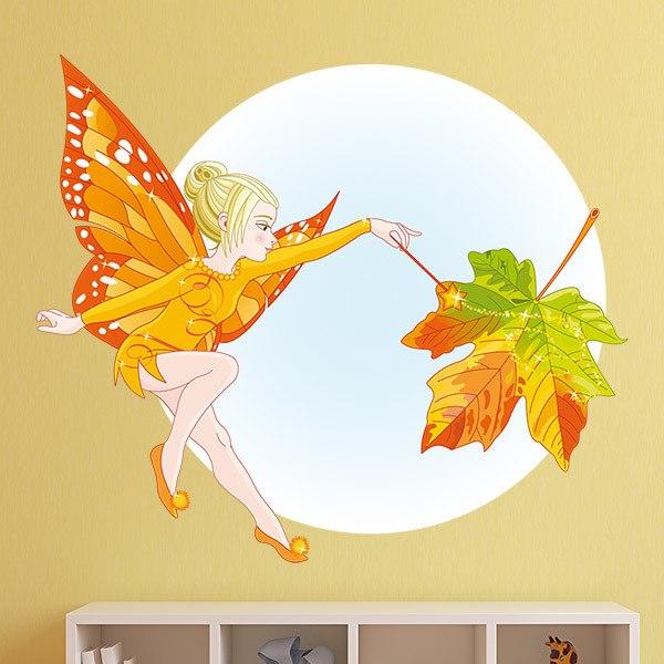 Kinderzimmer Wandtattoo: Herbst-Fee Schmetterling