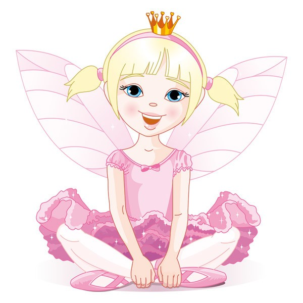 Kinderzimmer Wandtattoo: Kleine Rosa Fee