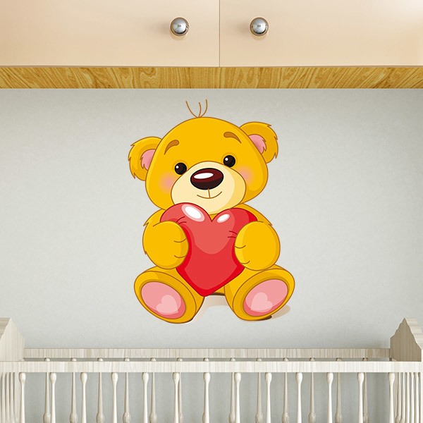Kinderzimmer Wandtattoo: Bär Herz
