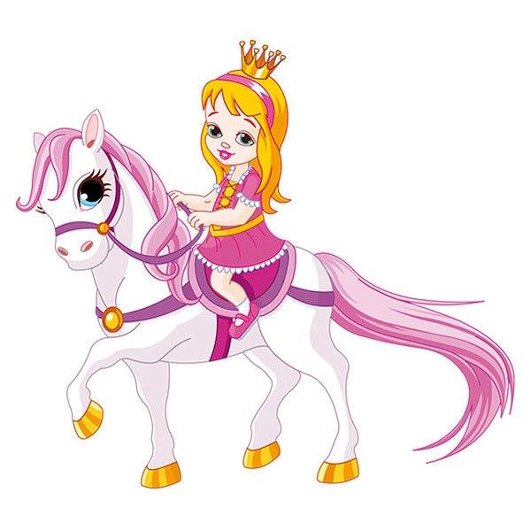 Kinderzimmer Wandtattoo: Prinzessin und Pony
