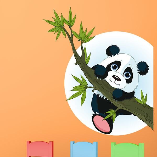 Kinderzimmer Wandtattoo: Panda auf Baumzweig