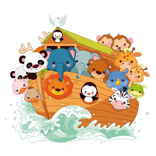 Kinderzimmer Wandtattoo: Die Arche Noah 2