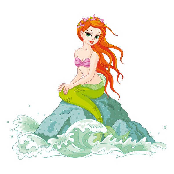 Kinderzimmer Wandtattoo: Meerjungfrau Ariel