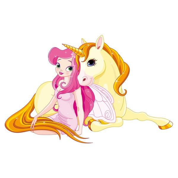 Kinderzimmer Wandtattoo: Prinzessin und Einhorn
