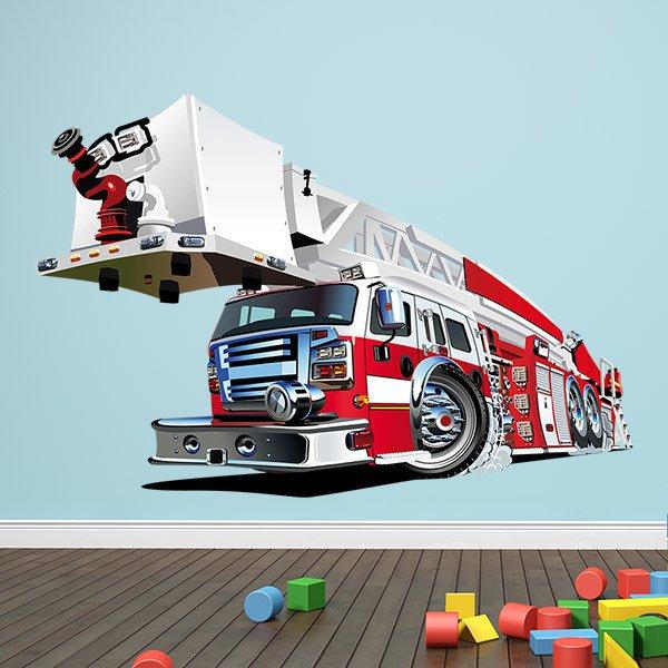 Kinderzimmer Wandtattoo: Feuerwehrauto