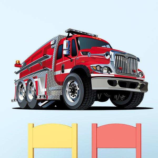 Kinderzimmer Wandtattoo: Feuerwehrauto 2