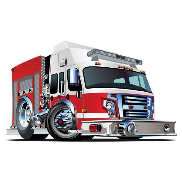 Kinderzimmer Wandtattoo: Feuerwehrauto 4
