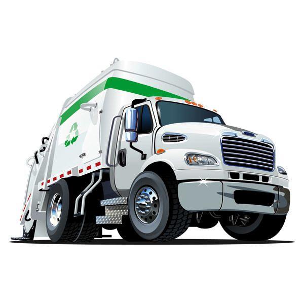 Kinderzimmer Wandtattoo: Abfallrecycling Lastwagen