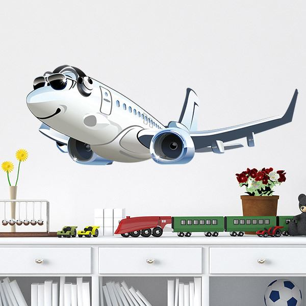 Kinderzimmer Wandtattoo: Kommerzielle Flugzeug 2
