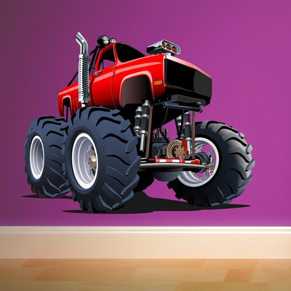 Kinderzimmer Wandtattoo: Monster Truck 19