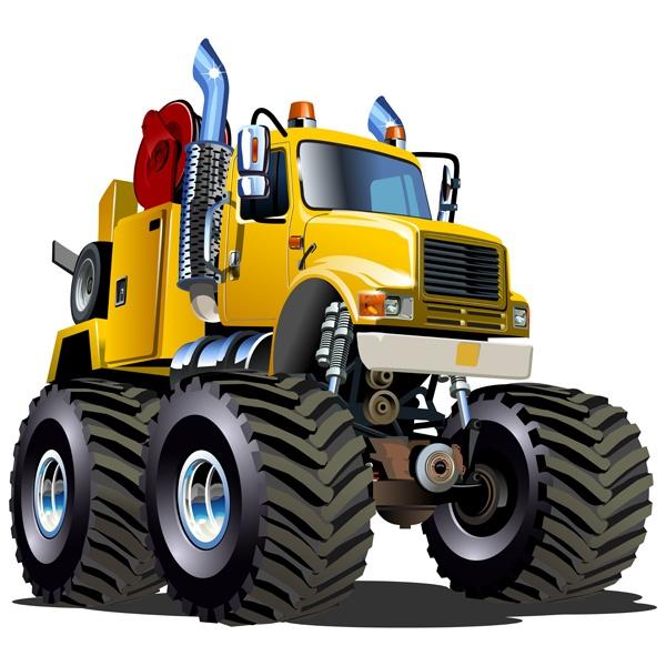 Kinderzimmer Wandtattoo: Monster Truck 20