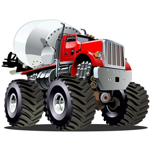 Kinderzimmer Wandtattoo: Monster Truck 22