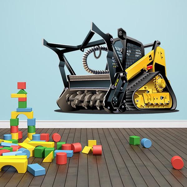 Kinderzimmer Wandtattoo: Schwere Maschinenrolle