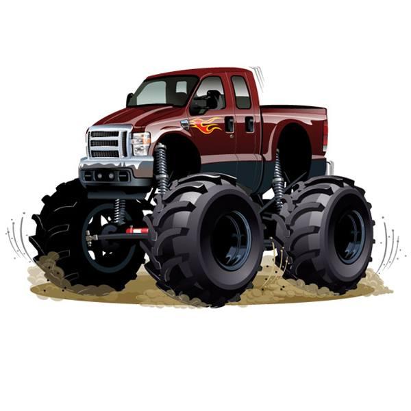 Kinderzimmer Wandtattoo: Monster Truck