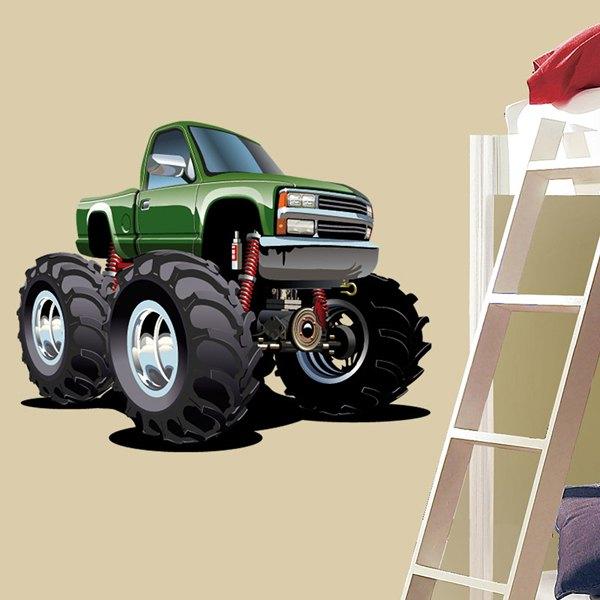 Kinderzimmer Wandtattoo: Monster Truck 2