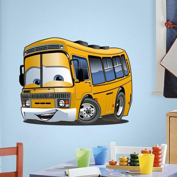Kinderzimmer Wandtattoo: Bus Schule