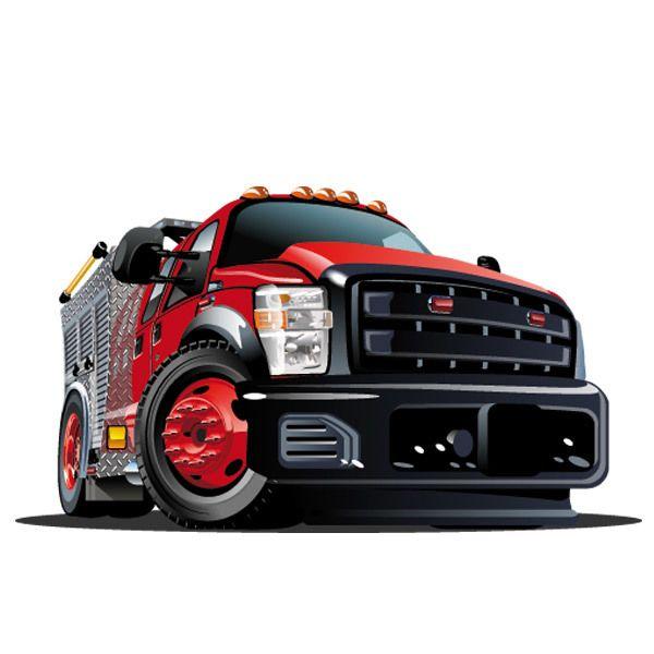 Kinderzimmer Wandtattoo: Roten lastkraftwagen