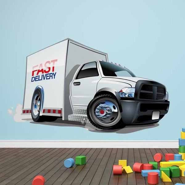 Kinderzimmer Wandtattoo: Lieferwagen