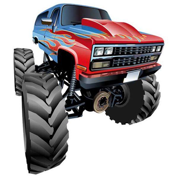 Kinderzimmer Wandtattoo: Monster Truck 9