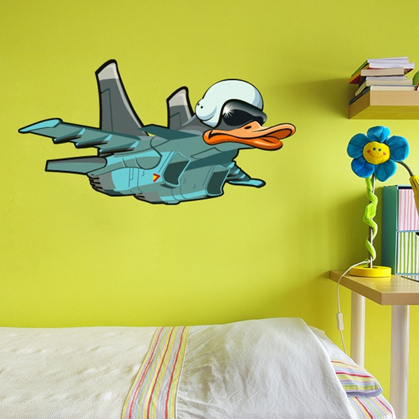 Kinderzimmer Wandtattoo: Flugzeug Kopfente
