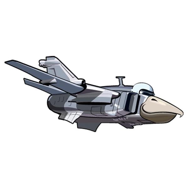 Kinderzimmer Wandtattoo: Flugzeug köpfigen Vogel 2