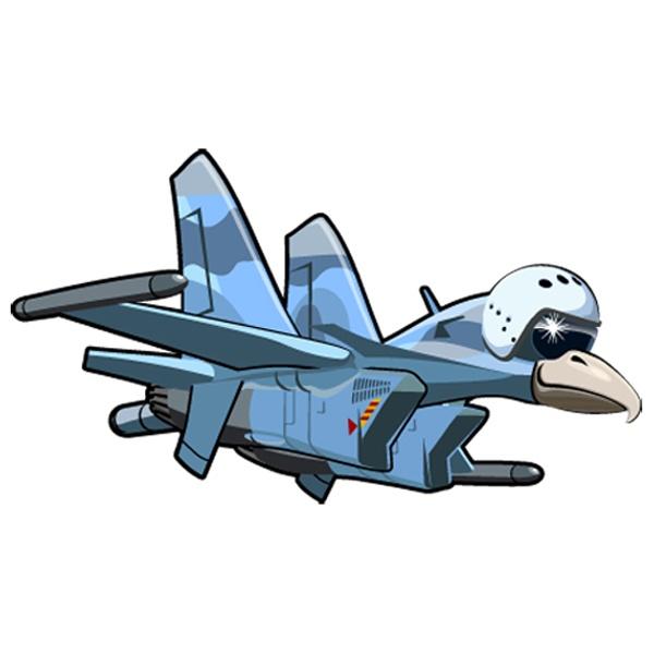 Kinderzimmer Wandtattoo: Flugzeug köpfigen Vogel 3