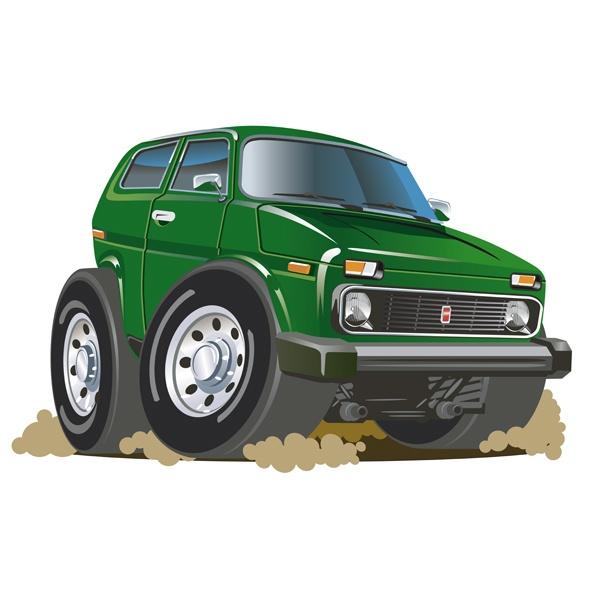 Kinderzimmer Wandtattoo: Grün geländewagen