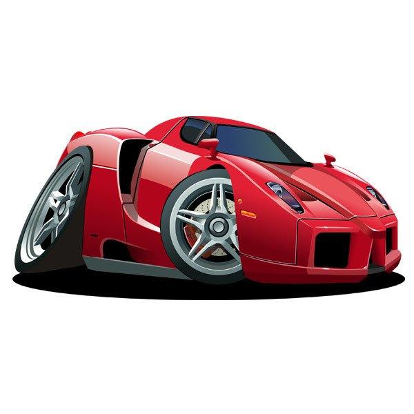 Kinderzimmer Wandtattoo: Red Sportwagen