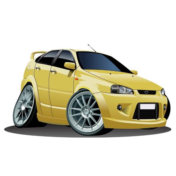 Kinderzimmer Wandtattoo: Gelbes Auto