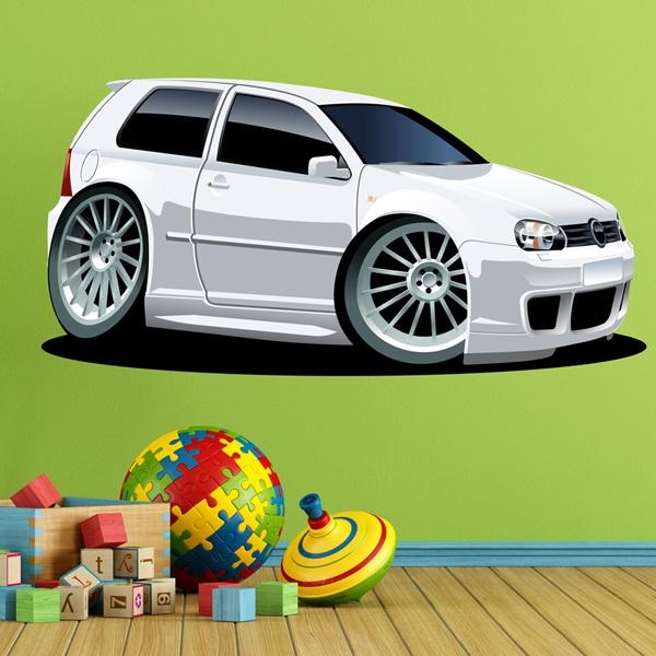 Kinderzimmer Wandtattoo: Weißes Auto